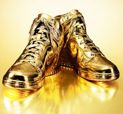 gold plated nikes_
